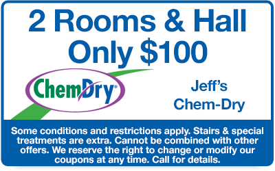 2 rooms and a hall only $100 coupon