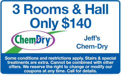 3 rooms and a hall only $140 coupon