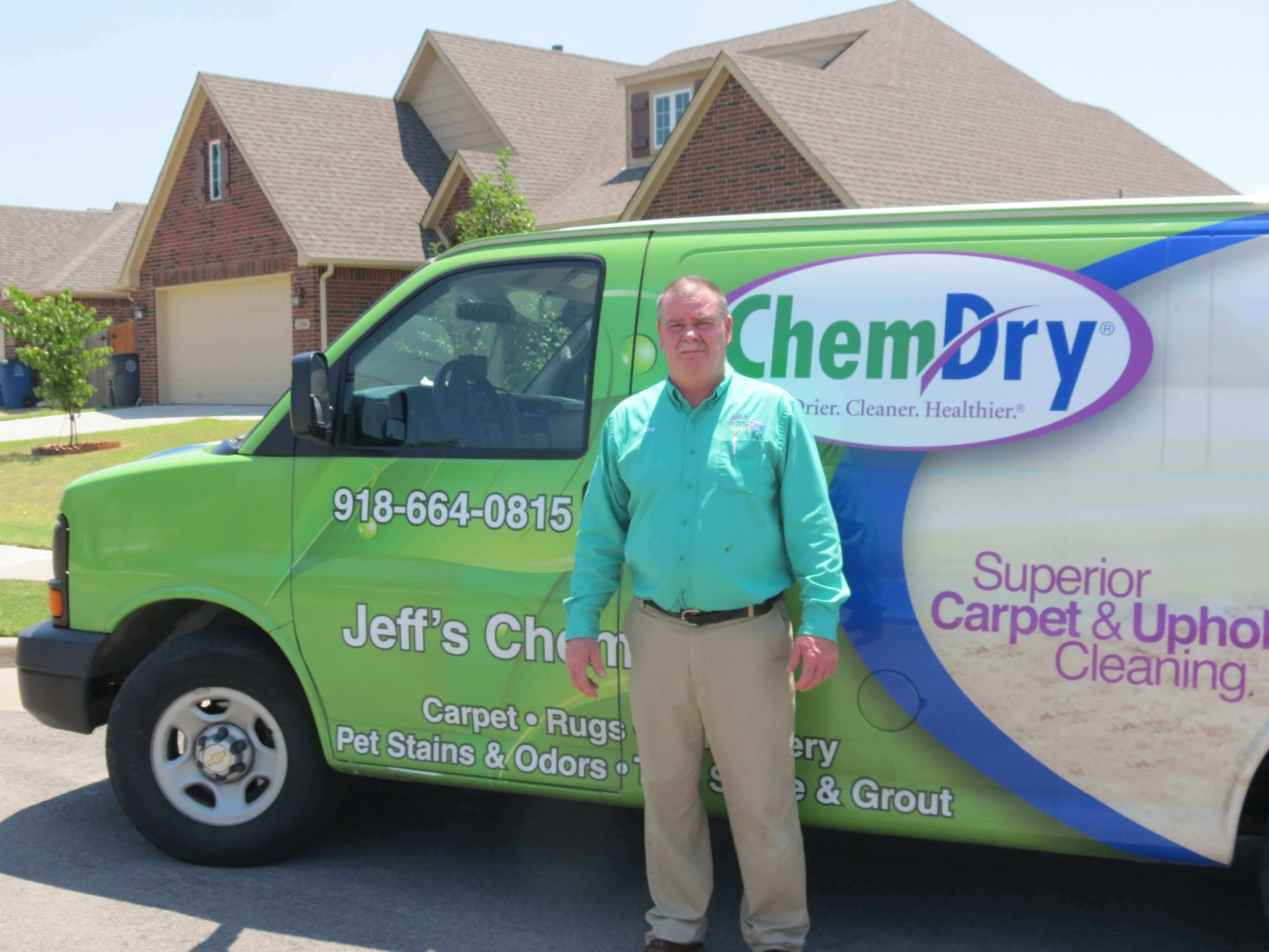 Gary Donaldson-manager at Jeff's Chem-Dry in Tulsa