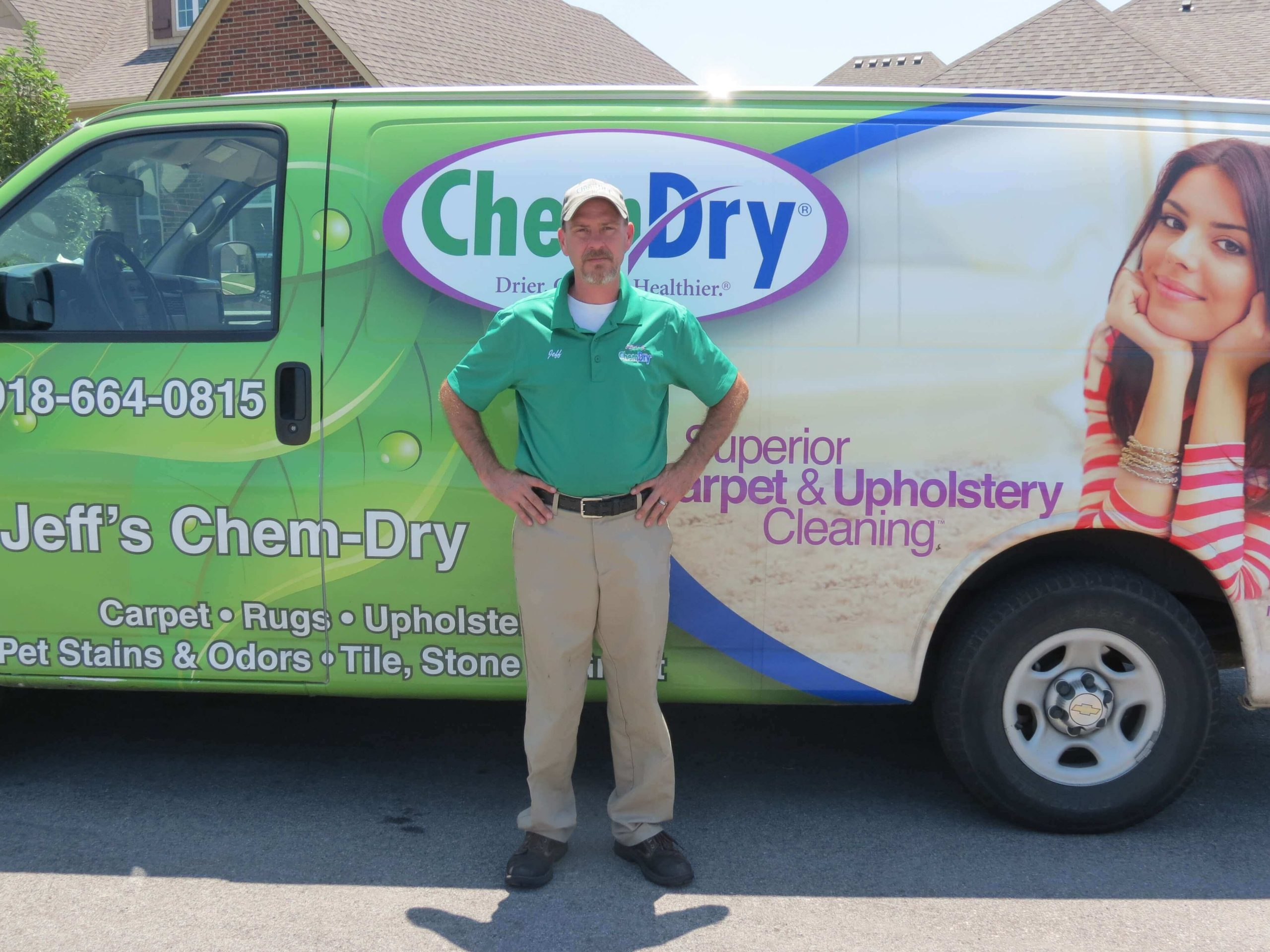 Jeffrey Taylor- sales manager at CJ's Chem-Dry carpet cleaning in Tulsa