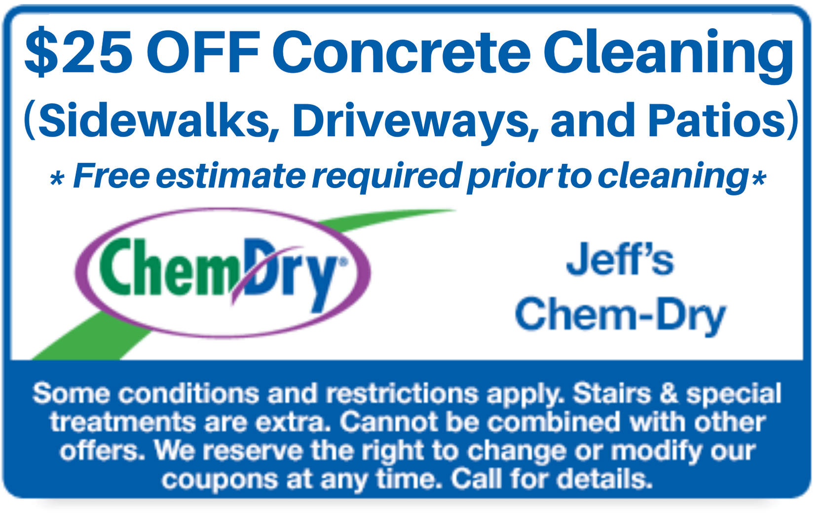 $25 off concrete cleaning coupon